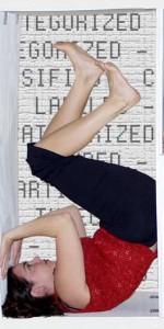 dancer posing upside down