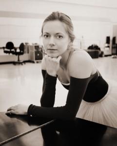 Ballerina in classroom