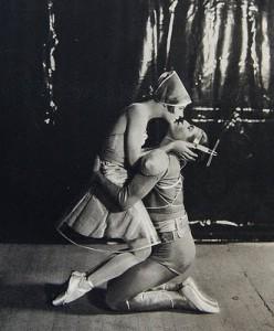Alice Nikitina and Serge Lifar in the ballet La Chatte, 1927. By Sasha via Crossett Library Bennington.