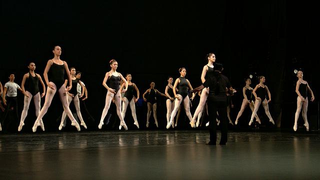 """""""Ballerinas in mid air"""" by Gabriel Saldana. Licensed under CC Attribution-ShareAlike 2.0 Generic."""