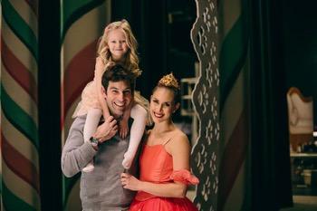 Ryan and Jessika backstage with Ryan's niece Josie.
